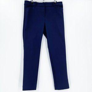 LOFT Navy Blue Trouser Pants Pockets Career Mid 10
